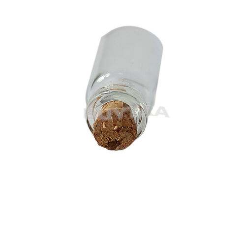 10pcs Mini Small Tiny Clear Cork Stopper Glass Bottles Vials Jars Wholesale SP