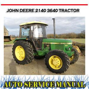 john deere 2140 3640 tractor workshop service repair manual dvd ebay rh ebay com au 3640 John Deere Tractor John Deere 4240