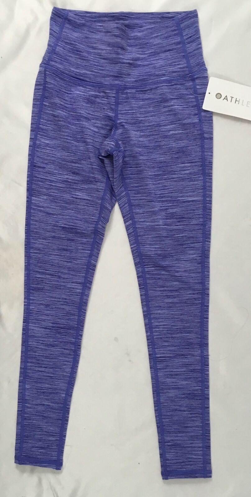 Athleta Women High Rise Serene Chaturanga 7 8 Tight Purple Luxe Quest Size 2XS