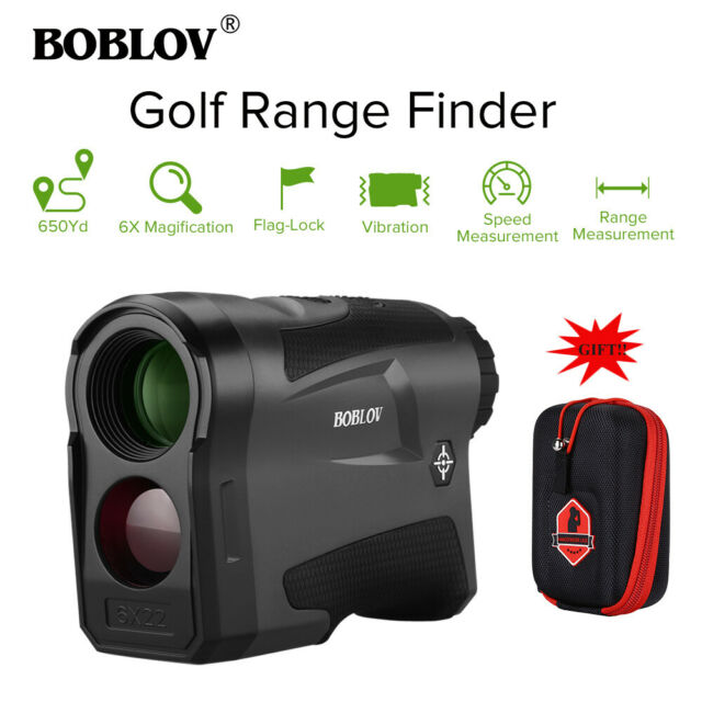 BOBLOV LF600G 6X Golf Laser Range Finder Flag Locking Pinsensor technology + Box