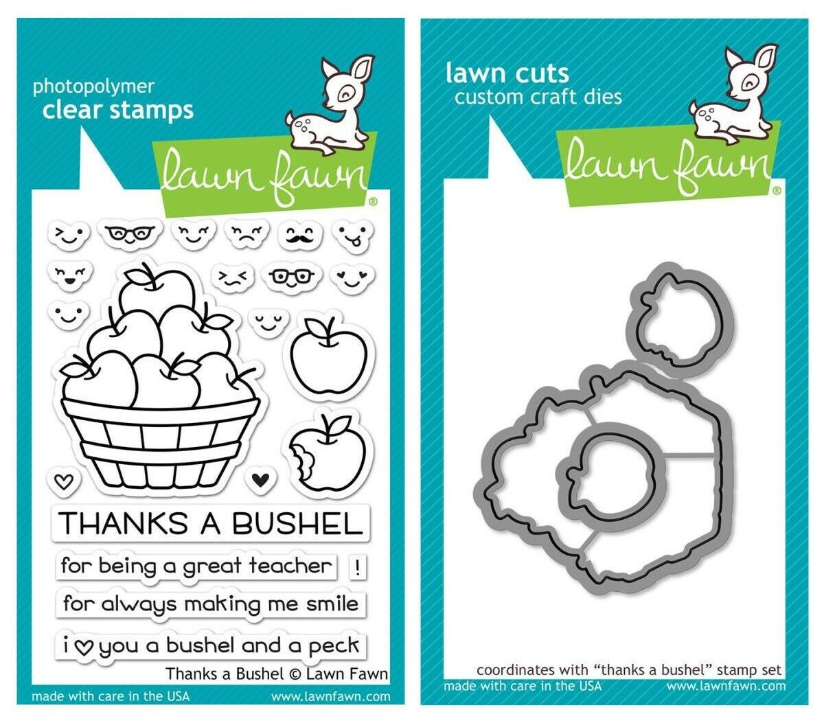 LF1208 Thanks A Bushel Lawn Fawn Clear Stamps