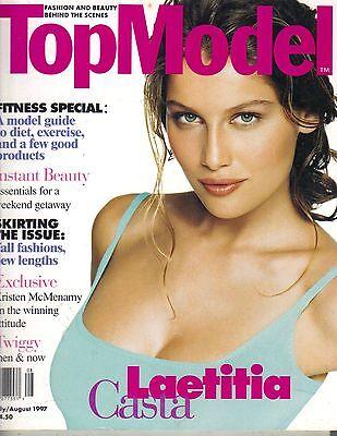 LAETITIA CASTA Elle Top Model Magazine 7/97 TWIGGY KRISTEN MCMENAMY