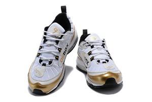 promo code 89b20 c99df Details about Nike Air Max 98 UK Summit White Metallic Gold Prime Meridian  UK 8 / 42.5 EUR