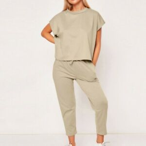 43fc3b104181 Details about 2Pcs Womens Summer Tracksuits Set Sport Lounge Wear Ladies  Casual Tops Pant Suit