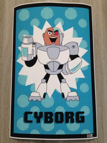 Teen Titans Go Cyborg poster print