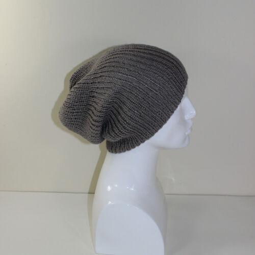 Impreso Knitting instrucciones-Unisex Rib slouch hat Circulares patrón
