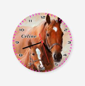 Kinderzimmer Wanduhr Kinderuhr Pferd Pferde Pony kein Ticken | eBay