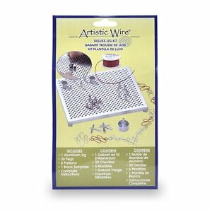NEW Artistic Wire Deluxe Jig Kit Beading Jewelry Making Forming Loops + Board !!