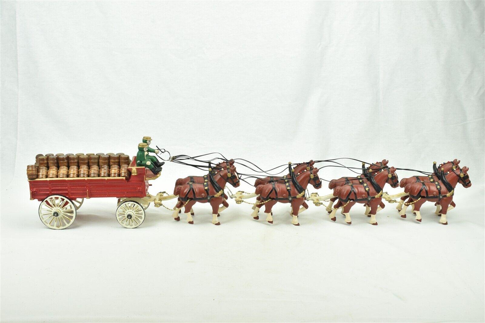 Utexiqual Products Beer Wagon Cart 8 Horses Cast Iron Original Box