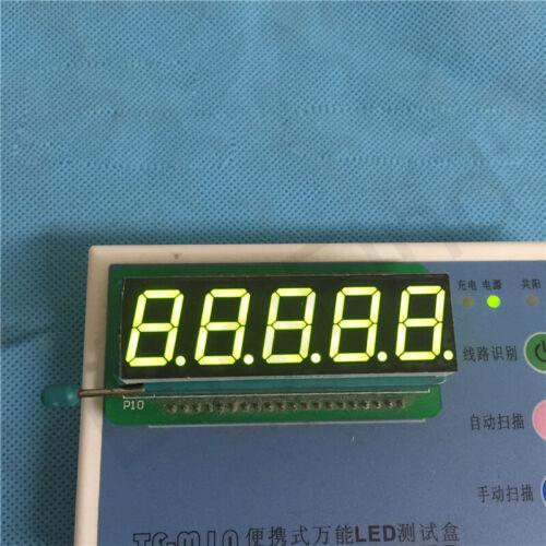 10pcs 0.56 inch 5 digit segment led displays 7 seg segment CC//CA type W//B//Y//G//R