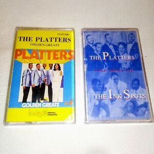 THE-PLATTERS-GOLDEN-GREATS-THE-BEST-OF-THE-INK-SPOTS-Cassette-Tapes-X-2