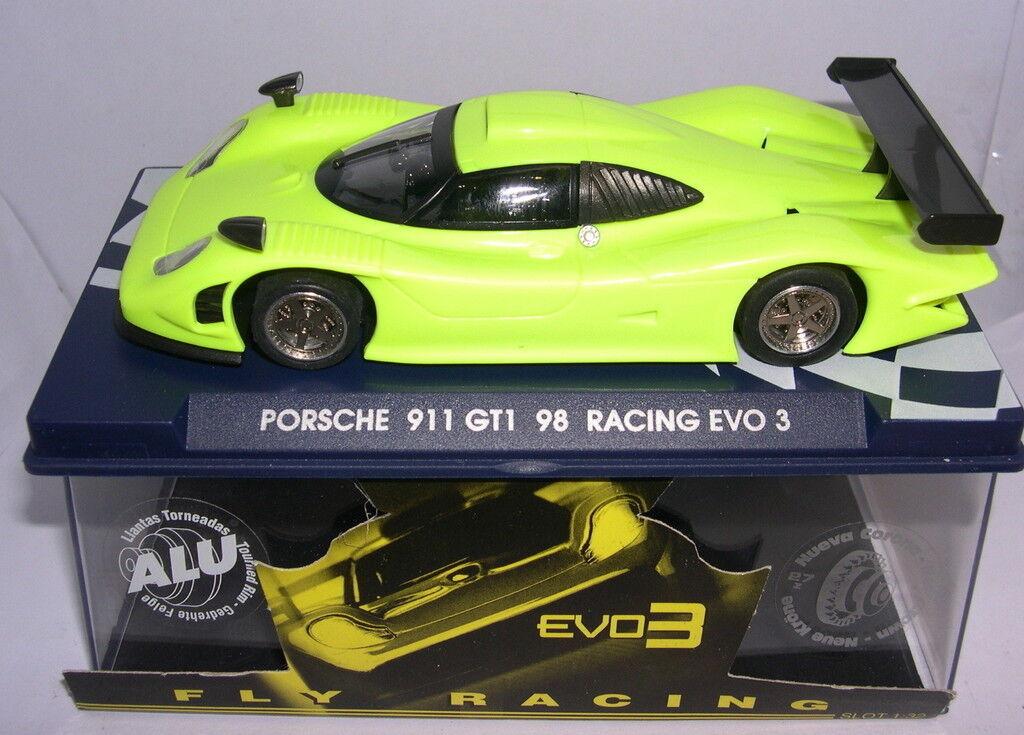 Qq FLY -102 07044 PORSCHE 911 GT1 98 RACING EVO 3 YELLOW