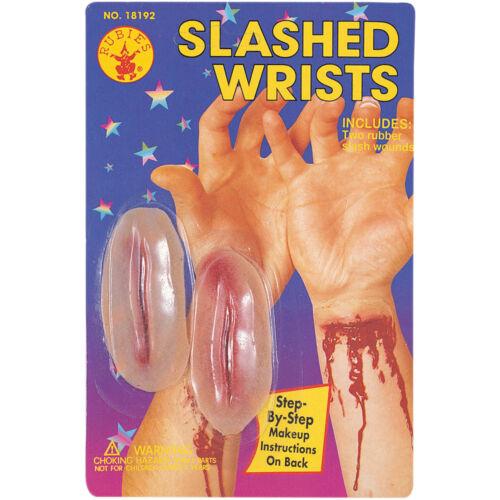 Slit Wrists Fake Latex Wound Scar Prosthetic Costume Skin Slashed Cut Wrist Prop