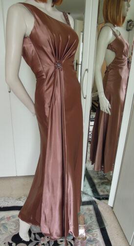 Couture Gr Robe Fairytale 34 Beautiful Haute Brown de Strass soirée Bronce Paillettes zfEAfq