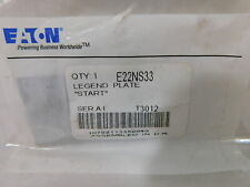 E22NS36 Eaton Legend Plate NEW Black