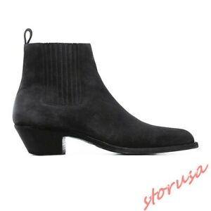 Vintage Pointy Toe Chelsea Boots Mens
