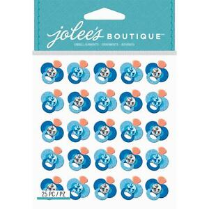 Scrapbooking Crafts Stickers Jolee's Dimensional Blue Baby Pacifiers Repeats Gem