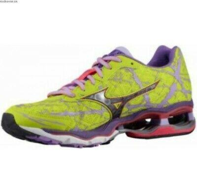 Mizuno Wave Creation 16 Running Shoes Lime Punch, Black, Lavender Women's 11 | eBay