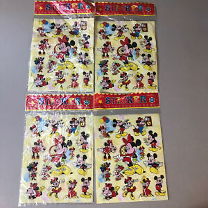 Vintage-Disney-Mickey-And-Minnie-Mouse-Sticker-Lot-4-Packs-All-The-Same