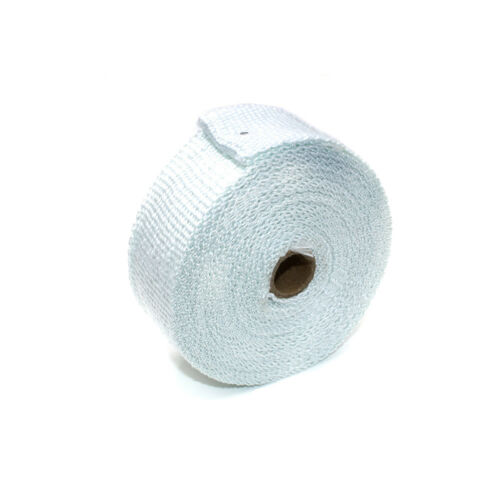 "4 Ties Kit 10M 2/"" 33Ft White Roll Fiberglass Exhaust Header Pipe Heat Wrap Tape"