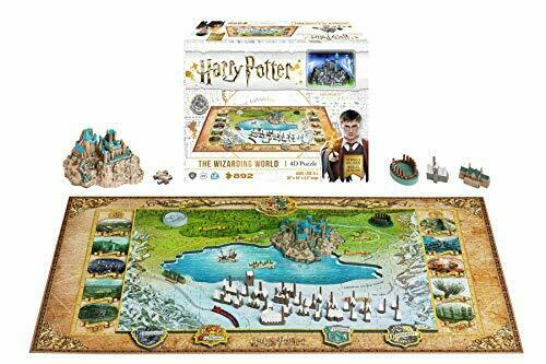 4D Cityscape Harry Potter Wizard Funding World 3D Puzzle 892 Piece 51108 Genuf S