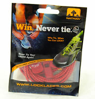 Nathan Lock Laces Shoe String No / Never Tie Running Tri Jogging Red