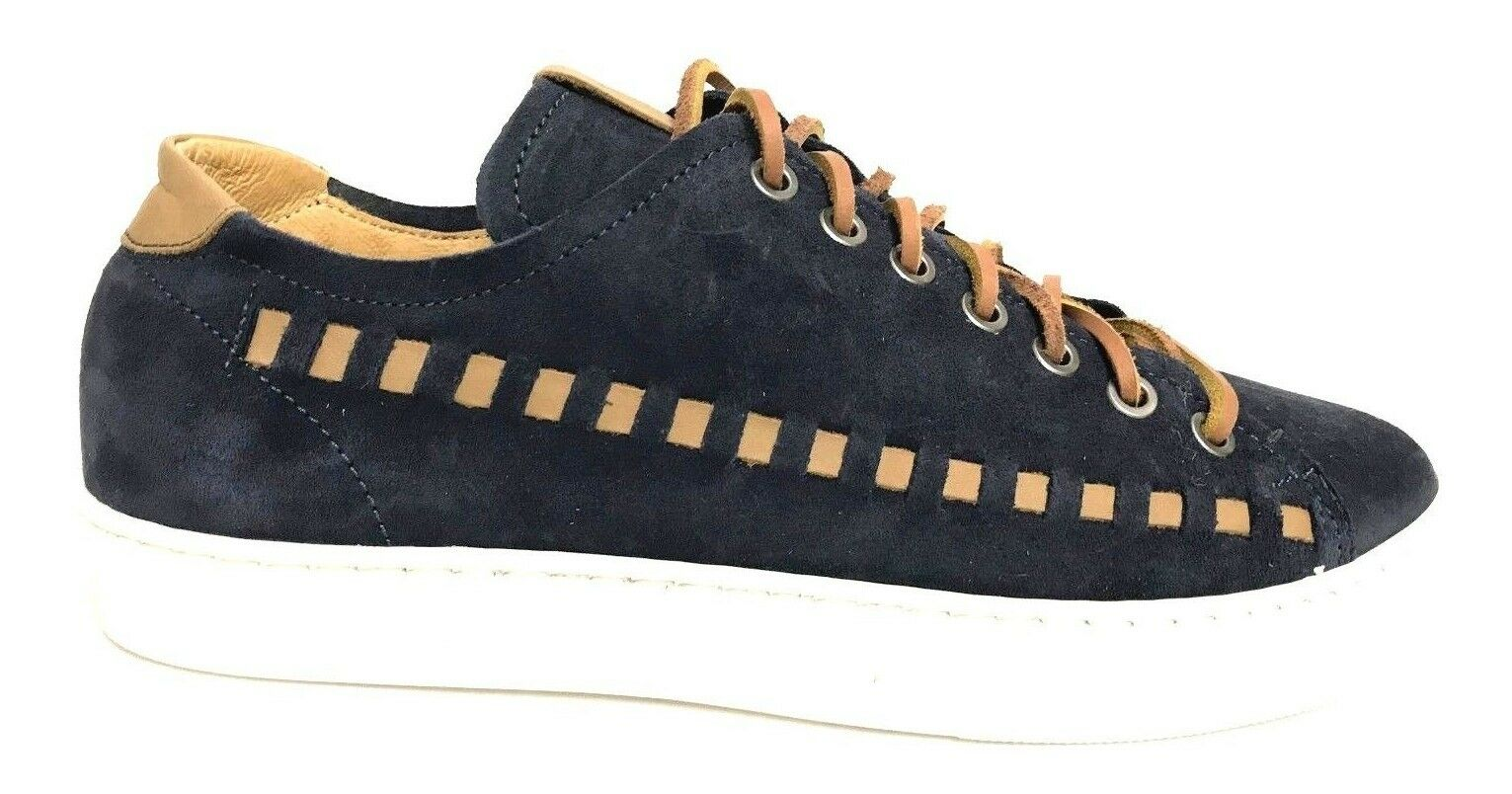 shoes men EXTON SHOES SNEAKERS BASSE 477 NAVY ESTATE 2018 SCONTO 50%