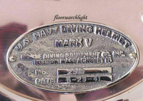 SOLID BRASS MARK V U.S NAVY DIVING DIVERS HELMET NAME PLATE HANMADE STYLE GIFT