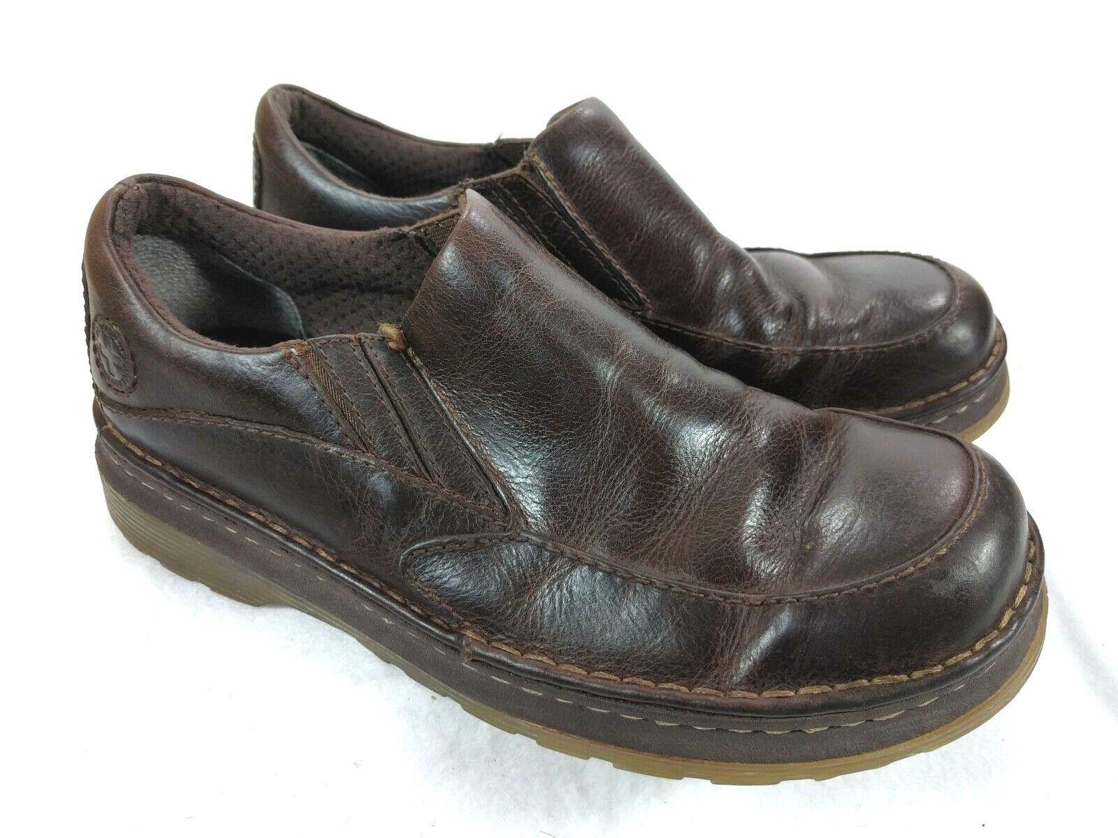 DR. MARTENS Neil Men's Size US 8 Brown Leather Loafers Moc Toe Slip-On
