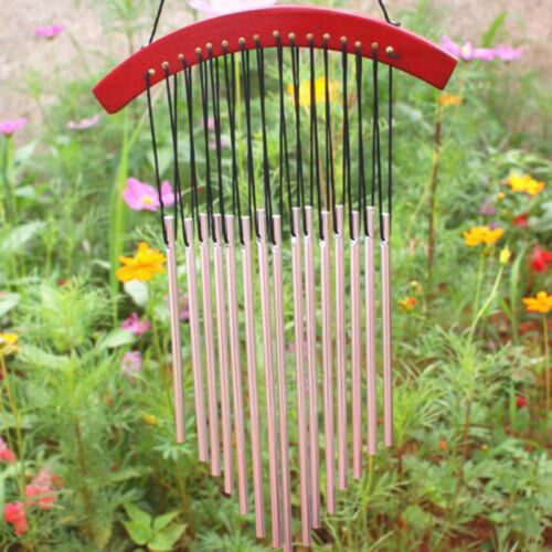 45cm Wind Chimes Bells Hanging Copper 15xTubes Outdoor Yard Garden Home Decor