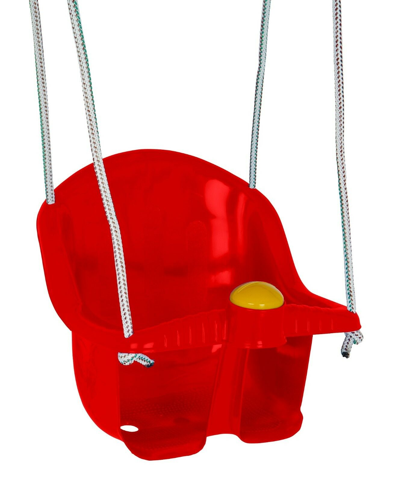 Dolu Childrens Outdoor Garden Swing Seat With Rope And Mounting Rings Toy Red