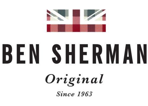 Homme Ben Sherman Col Ras Du Cou Tipped Coton Pull en mailles 62555-Noir