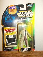 Star Wars HAN SOLO Figure With Freeze Frame Action Slide Free Fast Ship!