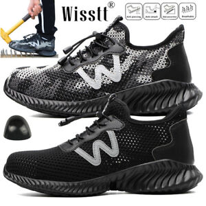 Men-039-s-Military-Indestructible-Bulletproof-Safety-Work-Shoes-Wide-Steel-Toe-Boots