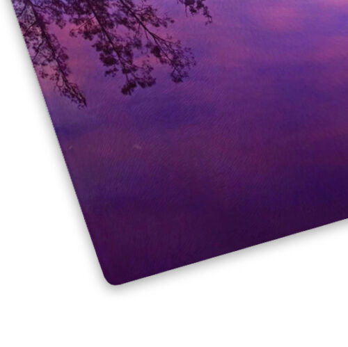 Purple River Sunset Nature Glass Chopping Board Kitchen Worktop Saver Protector