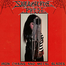 Slaughtered Priest - Iron Chains and Metal Blades LP splatter Vinyl Black Speed