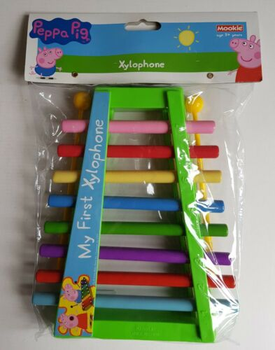 Neuf Peppa Pig Mon Premier Xylophone /& 2 batteurs Multicolore Enfant Jouet