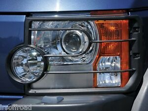 Land Rover Discovery 3 Front Lamp Light Guards Pair Head Light