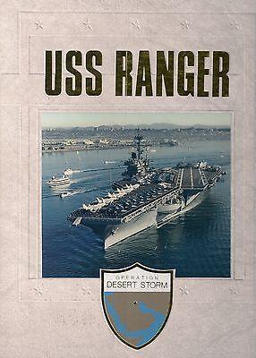 ☆* USS RANGER CV-61 DESERT STORM DEPLOYMENT CRUISE BOOK YEAR LOG 1990-91 *☆