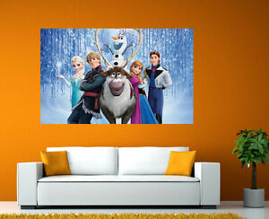 Frozen Movie Kids Bedroom Giant Large Wall Art Pic Poster A0 A1 A2 A3 A4 Fm02 Ebay