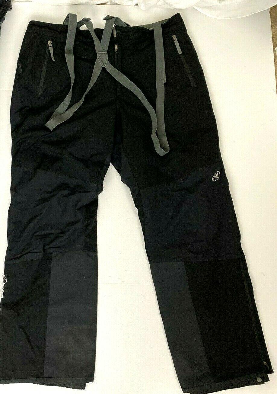 Cloudveil schwarz Waterproof Primaloft Ski Snowboard Pants Suspenders - Mens XL