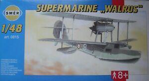 +++ Supermarine Walrus + échelle 1:48 Kit By Smer +++-afficher Le Titre D'origine Le Plus Grand Confort