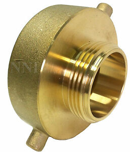 Brass Hex 1 1//2 NH to 1 1//2 NH Double Male Fire Hose Adapter
