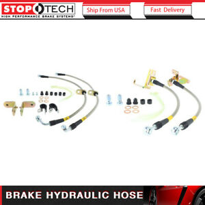 Brake Hydraulic Hose-Stainless Steel Brake Lines Front fits 94-04 Ford Mustang