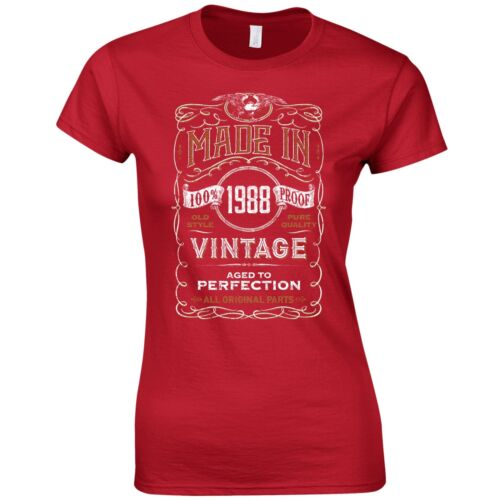 Born 31st Year Birthday Present Funny Gift Made in 1988 Ladies Fitted T-Shirt