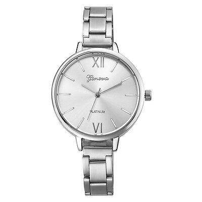 Geneva Fashion Women Dress Watches Stainless Steel Analog Quartz Wrist Watch New