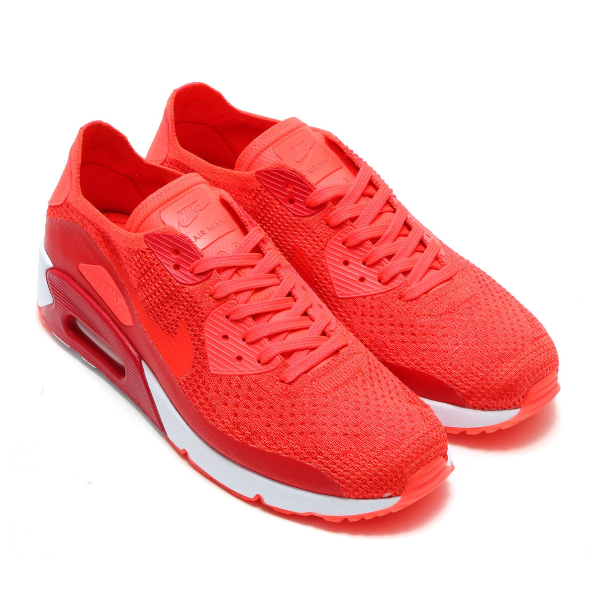 NEW 875943 600 MENS NIKE AIR MAX 90 ULTRA 2.0 FLYKNIT SHOES!! BRIGHT CRIMSON