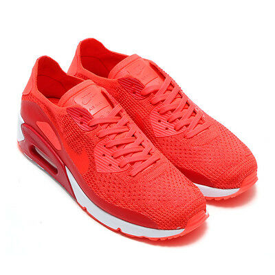 NEW 875943 600 MENS NIKE AIR MAX 90 ULTRA 2.0 FLYKNIT SHOES!! BRIGHT CRIMSON | eBay