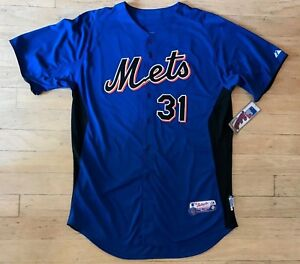 online store 78601 f5516 Details about MAJESTIC NEW YORK METS #31 MIKE PIAZZA AUTHENTIC COOL BASE  JERSEY MENS NWT