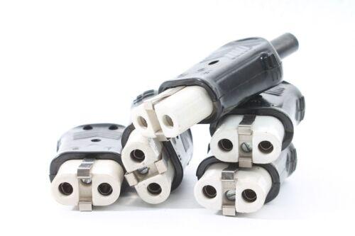 alter Gerätestecker für Steckdose Kabel Bakelit 10A 250 Volt Stecker